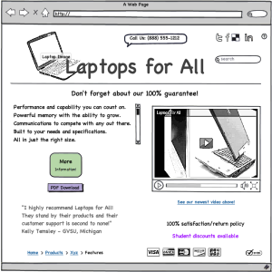 Landing Page for Laptops For All
